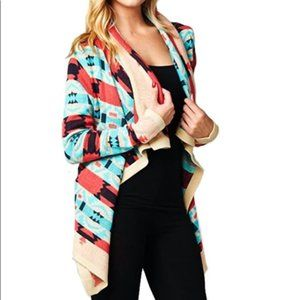 Anthropologie Moon Collection Aztec cardigan, L